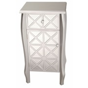 Heather Ann 1 Drawer 1 Door Bombay Chest; Smoke Silver