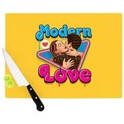 KESS InHouse Modern Retro Love Cutting Board; 11.5'' W x 8.25'' D