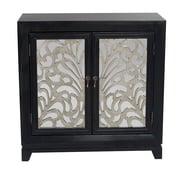 Heather Ann 2 Door Accent Cabinet; Black