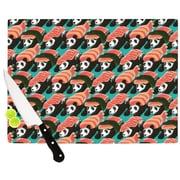 KESS InHouse Sushi Panda Cutting Board; 11.5'' W x 8.25'' D