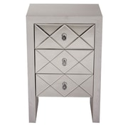 Heather Ann 3 Drawer Accent Chest; Grey