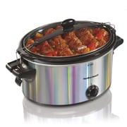 Hamilton Beach Stay or Go 5 Qt. Shimmer Slow Cooker; Silver