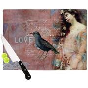 KESS InHouse Faith Hope Love Cutting Board; 11.5'' W x 8.25'' D