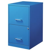 CommClad 2 Drawer File Cabinet; Blue