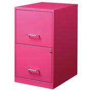 CommClad 2 Drawer File Cabinet; Pink