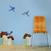 My Wonderful Walls Mushrooms and Birds Wall Stickers
