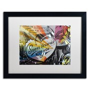"Trademark Fine Art ''Coupon Stories'' by Dan Monteavaro 16"" x 20"" White Matted Black Frame (ALI0950-B1620MF)"