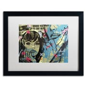 "Trademark Fine Art ''New Dramatic'' by Dan Monteavaro 16"" x 20"" White Matted Black Frame (ALI0969-B1620MF)"