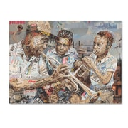 "Trademark Fine Art ''Blues Boys'' by Ines Kouidis 14"" x 19"" Canvas Art (ALI0980-C1419GG)"