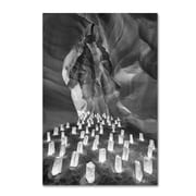 """Trademark Fine Art ''Candle Canyon II'' by Moises Levy 16"""" x 24"""" Canvas Art (ALI1128-C1624GG)"""