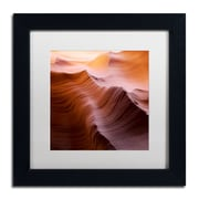 """Trademark Fine Art ''Smooth I'' by Moises Levy 11"""" x 11"""" White Matted Black Frame (ALI1136-B1111MF)"""