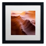 """Trademark Fine Art ''Smooth I'' by Moises Levy 16"""" x 16"""" White Matted Black Frame (ALI1136-B1616MF)"""