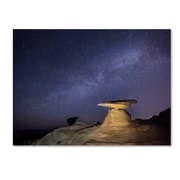 "Trademark Fine Art ''Starry Night in Arizona III'' by Moises Levy 18"" x 24"" Canvas Art (ALI1139-C1824GG)"