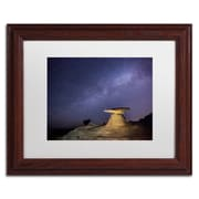 "Trademark Fine Art ''Starry Night in Arizona III'' by Moises Levy 11"" x 14"" White Matted Wood Frame (ALI1139-W1114MF)"
