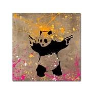 "Trademark Fine Art ''Panda with Guns'' by Banksy  24"" x 24"" Canvas Art (ALI1238-C2424GG)"