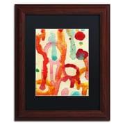 "Trademark Fine Art ''Circle Encounters 5'' by Amy Vangsgard  11"" x 14"" Black Matted Wood Frame (AV0095-W1114BMF)"