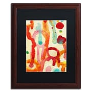 "Trademark Fine Art ''Circle Encounters 5'' by Amy Vangsgard  16"" x 20"" Black Matted Wood Frame (AV0095-W1620BMF)"