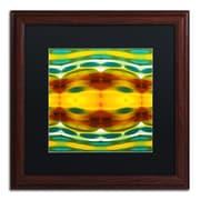 "Trademark Fine Art ''Fury Pattern 5'' by Amy Vangsgard  16"" x 16"" Black Matted Wood Frame (AV0129-W1616BMF)"