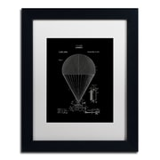 "Trademark Fine Art ''Airship Patent 1913 Black'' by Claire Doherty 11"" x 14"" White Matted Black Frame (CDO0001-B1114MF)"