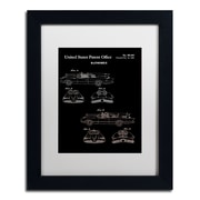"Trademark Fine Art ''Batmobile Car Patent 1966 Black'' by Claire Doherty 11"" x 14"" White Matted Black Frame (CDO0006-B1114MF)"