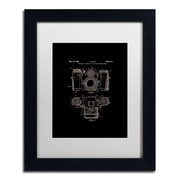 "Trademark Fine Art ''Photographic Camera 1962 Black'' by Claire Doherty 11"" x 14"" White Matted Black Frame (CDO0014-B1114MF)"