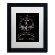 "Trademark Fine Art ''One Wheeled Vehicle 1885 Black'' by Claire Doherty 11"" x 14"" White Matted Black Frame (CDO0031-B1114MF)"