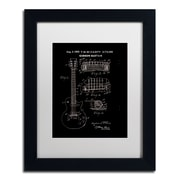 "Trademark Fine Art ''1955 Mccarty Gibson Guitar Black'' by Claire Doherty 11"" x 14"" White Matted Black Frame (CDO0068-B1114MF)"