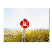 "Trademark Fine Art ''Florida Beach Saver'' by Preston 18"" x 24"" Canvas Art (EM0522-C1824GG)"