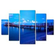 Trademark Fine Art ''Florida Pier'' by Preston 3.3' x 4.8' Multi Panel Art Set (EM0527-P5-SET)