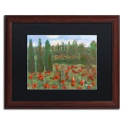 "Trademark Fine Art ''Red Poppies in the Wood'' by Manor Shadian 16"" x 20"" Black Matted Wood Frame (MA0624-W1620BMF)"