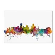"Trademark Fine Art ''Miami Florida Skyline'' by Michael Tompsett 30"" x 47"" Canvas Art (MT0578-C3047GG)"