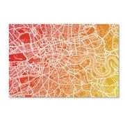 """Trademark Fine Art ''London England Street Map Art '' by Michael Tompsett 22"""" x 32"""" Canvas Art (MT0672-C2232GG)"""