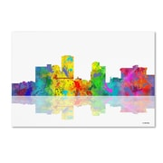 "Trademark Fine Art ''Little Rock Arkansas Skyline'' by Marlene Watson 16"" x 24"" Canvas Art (MW0057-C1624GG)"