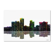 "Trademark Fine Art ''Little Rock Arkansas Skyline'' by Marlene Watson 16"" x 24"" Canvas Art (MW0058-C1624GG)"