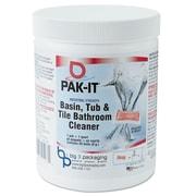 Pak-it Basin, Tub And Tile Cleaner, Ocean Scent, 4 Oz Packets, 20/jar, 12 Jar/carton