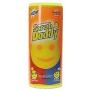 "Scrub Daddy Scratch-Free Scrubbing Sponge, 4 1/8"" Diameter, Yellow, Polymer Foam, 6/pack"