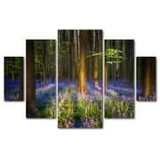 Trademark Fine Art ''Mystical Forest'' by Mathieu Rivrin 3.3' x 4.8' Multi Panel Art Set (RV0021-P5-SET)