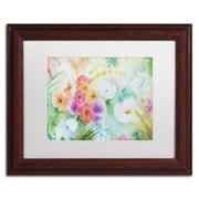 """Trademark Fine Art ''Napa Garden'' by Sheila Golden 11"""" x 14"""" White Matted Wood Frame (SG5736-W1114MF)"""