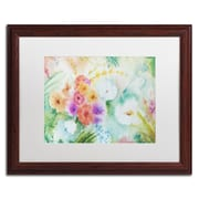 """Trademark Fine Art ''Napa Garden'' by Sheila Golden 16"""" x 20"""" White Matted Wood Frame (SG5736-W1620MF)"""