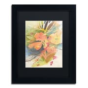 "Trademark Fine Art ''Sunlight Blossoming'' by Sheila Golden 11"" x 14"" Black Matted Black Frame (SG5737-B1114BMF)"