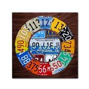 """Trademark Fine Art ''Clock Square'' by Design Turnpike 35"""" x 35"""" Canvas Art (ALI1312-C3535GG)"""