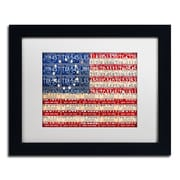 "Trademark Fine Art ''Betsy Ross Flag'' by Design Turnpike 11"" x 14"" White Matted Black Frame (ALI1313-B1114MF)"
