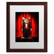 "Trademark Fine Art ''Mice Series #1.5'' by J Hovenstine Studios 16"" x 20"" White Matted Wood Frame (ALI1339-W1620MF)"