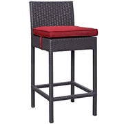 """Modway Lift 27.5""""H Barstool, Espresso/Red (EEI-1006-EXP-RED)"""