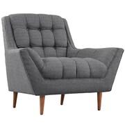 """Modway Response 39.5"""" Fabric Armchair, Gray (EEI-1786-DOR)"""