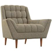"Modway Response 39.5""W Fabric Armchair, Oatmeal (EEI-1786-OAT)"