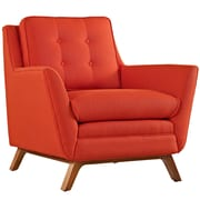 """Modway Beguile 36"""" Fabric Armchair, Atomic Red (EEI-1798-ATO)"""