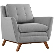"""Modway Beguile 36"""" Fabric Armchair, Gray (EEI-1798-GRY)"""