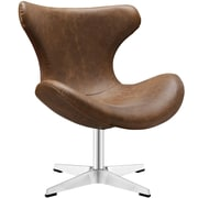 "Modway Helm 29""W Vinyl Lounge Chair, Brown (EEI-1804-BRN)"