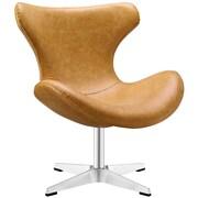 "Modway Helm 29"" Vinyl Lounge Chair, Tan (EEI-1804-TAN)"